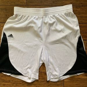 White with Black Athletic Basketball Shorts